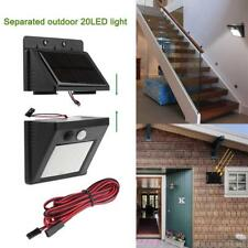 20LED Solar Split Outdoor Yard Wall Light Separate PIR Motion Sensor Night Lamp