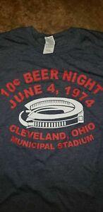 Cleveland Indians 10 Cent Beer Night Shirt June 4th 1974  Municipal Stadium S-5X