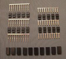 10 Paar Servo Graupner/JR Set Stecker und Buchse vergoldet zum Crimpen