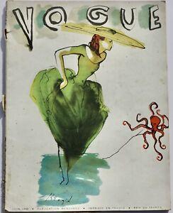 1948 Vogue Paris French fashion magazine 40s vintage Dior Hermes Roland Petit