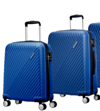American Tourister Visby 2 Piece Spinner Suitcase Set, Blue *Cabin Medium* G