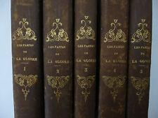 L'HERITIER. Les Fastes de la gloire... 5 vol. Edition originale. 1818-1822