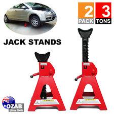 New 2pcs Car Jack Stand 3T 3000kg Ratchet Adjustable Lift Hoist Heavy Duty Steel