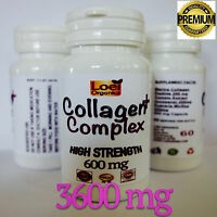 Marine Collagen Peptide Super Strength 3600 mg + Lycopene Anti Ageing Wrinkle