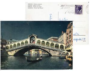 Venezia Ponte di Rialto-giorno e notte-Timbro Stamp Campagna Sicurezza Strada-70