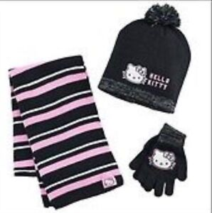 Hello kitty hat, scarf & gloves