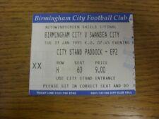 31/01/1995 Ticket: Football League Trophy Southern Area Semi-Final, Birmingham C