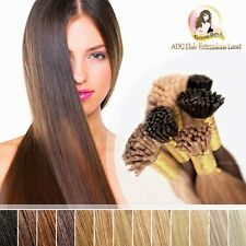 "20"" Indian Remy Human Hair Micro Beads Ring I tip Colourful Hair Extensions 25pc"