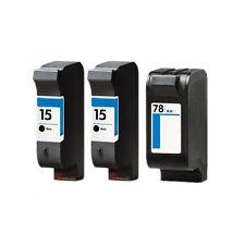 2x HP 15 & 78 Druckerpatrone Officejet 5110 HP15 HP78