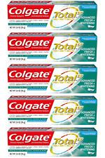 (5) Packs Colgate Total Advanced Fresh + Whitening Gel Toothpaste, 3.4 Ounce