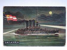 S.M.S. KARL VI nave marina kriegsmarine Pola vecchia cartolina ship