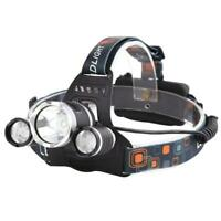 CREE T6 LED Headlamp 4-Modes Head Lamp Headlight  with Battery Car Charger R1BO