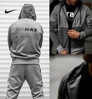Nike Sportswear Air Max Men's Full-Zip Hoodie CW5387 Grey Black size Large XL