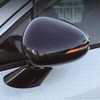 Carbon Fiber Black Side Door Mirror Cover Trim 2pcs For Kia K5 Optima 2020-2021