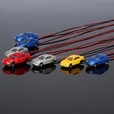 10 Pcs Flaring Light Model Cars w/ Wire Miniature Damara Train Layout 1:150 I6T9