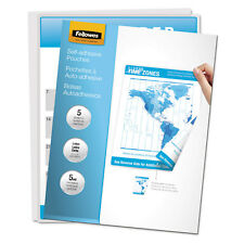 Fellowes Self-Adhesive Laminating Pouches 5mil 11 1/2 x 9 5/Pack 52205