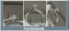 Solitaire Ring Valentino Natural Diamond 0,25 ct Gold 18 FUTURE BRIDE OFFER