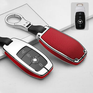 Remote Key Cover Case Shell For Mercedes Benz A C E S Class CLA CLS Silver red