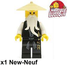 Lego - Figurine Minifig Ninjago Sensei Wu Black Outfit njo026 2507 2521 NEUF
