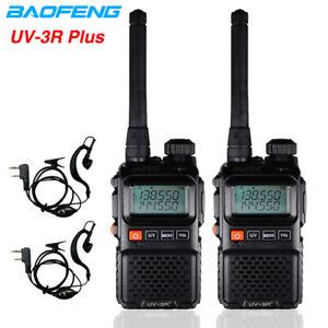 2SK MINI BAOFENG UV3R+ PLUS WALKIE TALKIES DUAL BAND UHF/VHF HAM ZWEI-WEGE-RADIO