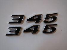 DODGE CHRYSLER 345 ENGINE ID FENDER HOOD SCOOP QUARTER PANEL TRUNK EMBLEMS BLACK