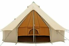 Canvas Bell Tent 4M Waterproof 4-Season Outdoors, Glamping & Family Camping Tent