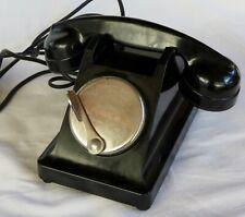 TELEPHONE BAKELITE ERICSSON A MAGNETO, NOIR, ANNEES 1950