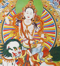 """16"""" BLESSED TIBETAN THANGKA PAINTING POSTER : FIVE SISTERS OF LONG LIFE ="""