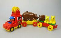LEGO Duplo Zoo Tiertransport Fahrzeug Tiere Vintage