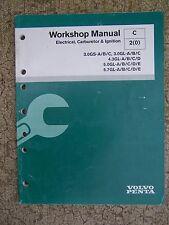 2004 Volvo Penta Stern Drive Electrical Carburetor Ignition  Workshop Manual  U