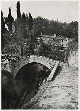 D1634 Arezzo - Convento delle Celle presso Cortona - Stampa antica - 1926 print