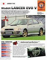 1998 Mitsubishi LANCER EVO V (5) SPEC SHEET/Brochure/