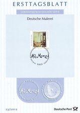 BRD 2012: Adoph-Menzel-Gemälde! Ersttagsblatt der Nr. 2937! Bonner Stempel! 1608