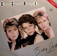 ++GIRLS CAN'T HELP IT baby doll/instrumental MAXI PROMO 1983 VIRGIN VG++