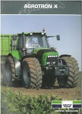 DEUTZ FAHR TRACTOR - AGROTRON X - X710 & X720 BROCHURE - DG4