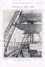 1901 HMS DELFINO seaflower primo svolgimento Ristretto le vele di Gabbia a bordo del LEONE CUCCIOLO D'INSEGNAMENTO a St