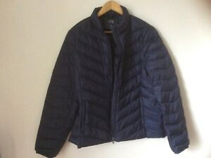 M&S collection size 16 lightweight navy polyamide new duck down jacket