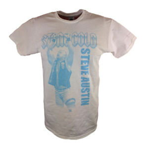 Stone Cold Steve Austin Arms Raised WWE Mens White T-shirt