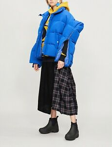 Junya Watanabe Comme des Garcons Zip Slit Sleeves Armor Shoulder Shell Puffer XS