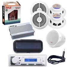 *KIT* Pyle Marine Audio Receiver FM Radio/AUX-IN w/ Amp, Speakers, Cables, Etc