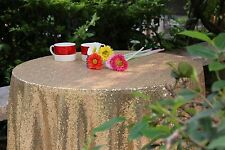72'' Round Gold Sequin Tablecloth,wholesale Wedding Beautiful Sequin Table