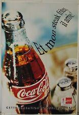 Affiche COCA COLA Et mon steak frites, il arrive ? Ann.'90 - 119x174 cm