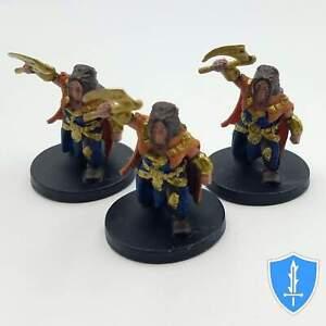 Gold Dwarf Guard x3 - Elemental Evil #15 D&D Miniature