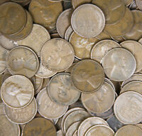 ✯ (50) Twenties Wheat Cents ✯ Classic Old U.S. Coins 1920-1929 ✯ P-D-S