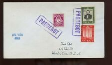 Norway Posted Ship Cover (MS Vito) 1950s Paquebot Cancel to Meriden, Conn
