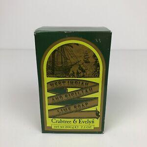 Crabtree & Evelyn Vintage West Indian Sicilian Lime Soap Large 7.1 oz Rare NEW
