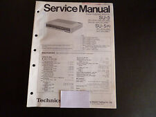 Original Service Manual  Technics Stereo Integrated Receiver SU-5