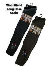 12 Mens Chunky Long Length Padded Sole Wool Blend All-Terrain Boot Socks UK 6-11