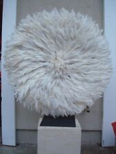 "30"" White  / African Feather Headdress / Juju Hat / 1st. Quality / New Shipment"