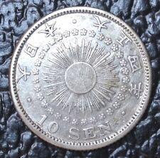 1916 Japan - 10 Sen - Silver - Wwi era - Nice